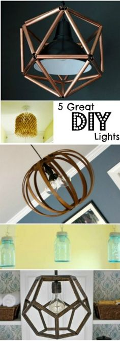 5 Great DIY Light Ideas @Remodelaholic @ehow #lighting