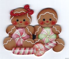 HP GINGERBREAD Peppermint Kids FRIDGE MAGNET