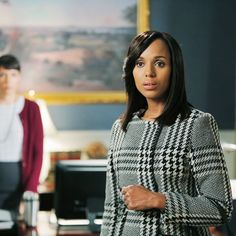 Scandal Fashion Credits: All the Details on What the Stars Wore - SEASON 4, EPISODE 9: PRADA HOUNDSTOOTH COAT from #InStyle