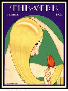theatre magazine cover by charles baskerville, 1924