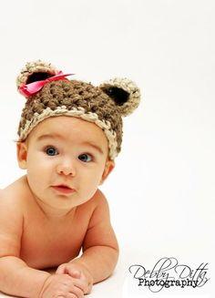 Petit chapeau de Teddy nouveauné Miss bébé par BeautifulPhotoProps, $30.00