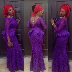 Eye-Catching Ankara & Aso-Ebi Styles ~ African fashion, Ankara, kitenge, Kente, African prints, Braids, Asoebi, Gele, Nigerian wedding, Ghanaian fashion, African wedding ~DKK