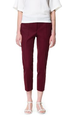 CROPPED TROUSERS - Trousers - Woman | ZARA United Kingdom