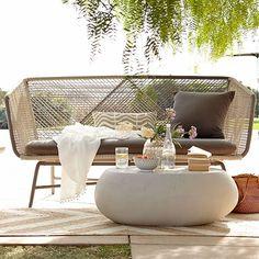 Huron Sofa – Gray/Seal | West Elm
