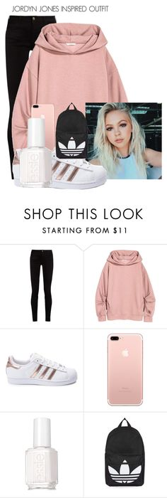 """Jordyn Jones Inspired outfit"" by sydypop ❤ liked on Polyvore featuring Gucci, adidas, Essie, Topshop, Sweatshirt, 2017, jordynjones and Jordyn"
