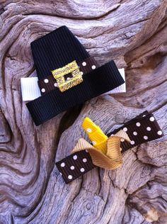 Pilgrim Hat and Harvest Corn... Thanksgiving Ribbon Sculpture Set. $7.00, via Etsy.