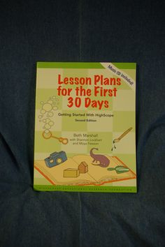 Lesson Plans for the first 30 Days