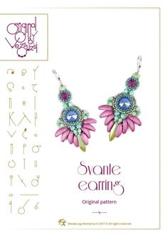 Beading tutorial / pattern Svante earrings Beading instruction in PDF – for personal use only by beadsbyvezsuzsi on Etsy