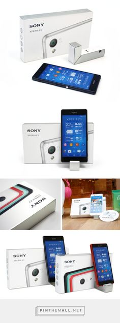 Sony Xperia Z3 #concept #packaging transforms into POS display by Adentity - http://www.packagingoftheworld.com/2015/02/sony-xperia-z3-concept.html