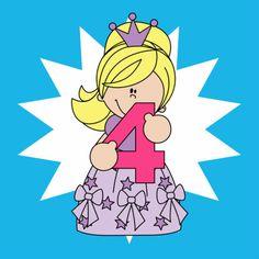 Prinses Alix 4 jaar! - Verjaardagskaarten - By Ontwerp Studio GIJNig voor Heppie Kids