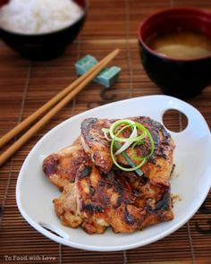 Grilled Miso Chicken Thigh Fillets @ To Food with Love Easy Japanese Recipes, Asian Recipes, Healthy Recipes, Japanese Food, Free Recipes, Ethnic Recipes, Grilled Chicken Tenders, Grilled Chicken Recipes, Recipe Chicken