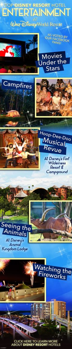 Top Disney Resort Hotel Entertainment at Walt Disney World! #vacation #tips #tricks