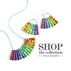 A beautiful rainbow jewelry collection that's a wonderful way to show your support for the LGBT+ Gay Pride, Lesbian Gifts, Paper Beads, Summer Jewelry, Wooden Beads, Spring, Jewelry Gifts, Rainbow, Colorful
