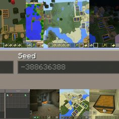Ultimate seed Minecraft PE -388636388 Double Farm Chest with diamond and emerald Mining underground