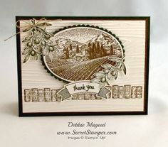 Hello, my Stampin' friends! After my wonderful trip to Italy, I immediately ordered the Tuscan Vineyard stamp set to make a thank you card for our group tour manager, Christopher. He was phenomenal, keepingus informed, safe and entertained – all at the same time! This stamp set was perfect to use for the occasion and … … Continue reading →