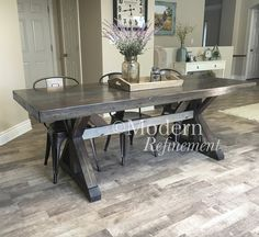 rustic farmhouse dinning table by ModernRefinement on Etsy