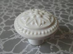 LynnsGraceland - White Drawer Knobs Dresser Knob Cabinet Knobs, $4.50 (http://lynnsgraceland.mybigcommerce.com/white-drawer-knobs-dresser-knob-cabinet-knobs/)