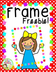 """Frame FREEBIE!!!....Follow for Free """"too-neat-not-to-keep"""" teaching tools & other fun stuff :)"""