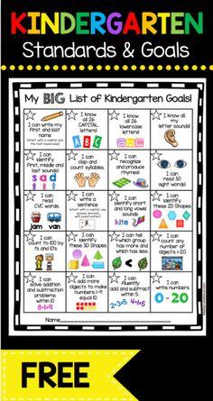 Kindergarten Goal Chart – FREEBIE
