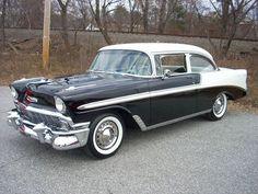 Chevrolet Bel Air, 1956 Chevy Bel Air, Chevrolet Impala, Chevrolet Sedan, Chevrolet Trucks, Old Vintage Cars, Antique Cars, Convertible, Classic Car Restoration
