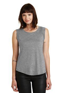 Port & Company LPC54 Ladies 5.4 oz Cotton T Shirt Dark Heather Grey