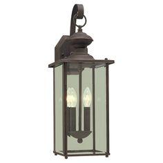 "20""  $156  says clear glass? Single-Light Jamestowne Outdoor Wall Lantern"