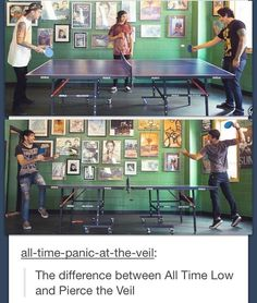 The difference between All Time Low and Pierce The Veil