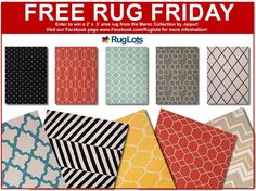 This week for #FreeRugFriday we're giving you the chance to win a 2'x3' rug from the Maroc Collection by Jaipur. Design is a passion for Jaipur from its very core and spills out in bold colors, distinctive styles and fashion-forward trending. The Maroc Collection offers an array of flat weave designs from modern geometrics to stripes and ikat prints, these area rugs will add a modern and fresh feel to any room of the home. Contest ends 5/2 @ 8:00p.m. Visit our Facebook page to enter! Good…