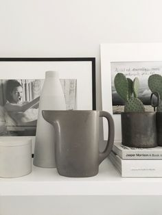IIse Crawford jug for Ikea + Anna Lerinder ceramics in the office of Therese Sennerholt.