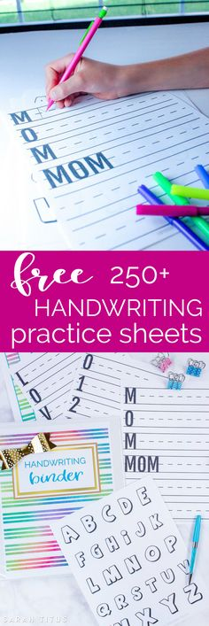 250+ page Handwriting Binder printables set includes, capital letters, lowercase letters, numbers, coloring pages, Kids Bucks rewards system...and more!