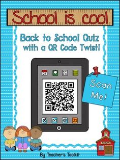 This is my very first product with QR Codes and it was so much fun to make!  I really hope you enjoy it!  This is the content of the introduction image:  Welcome back to school!  Let's have some fun with this 'back to school' quiz.  There are 10 questions to answer – they will help you find out some things about your teacher, your friends and your classroom.