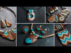 NOUVELLES CRÉATIONS ETHNIQUES FIMO - Fancy Puppet / My Polymer Clay Creations - YouTube