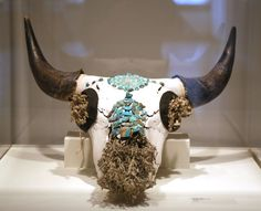 """Buffalo Skull by Sharon Day at """"World Through our Eyes"""" show, All My Relations Gallery in Minneapolis. American Indian Art, Native American Indians, Buffalo Skull, Native Art, Minneapolis, Contemporary, Eyes, Gallery, Museums"""