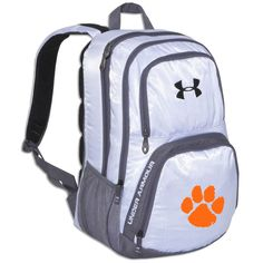 ed261c955e Clemson Tiger White Under Armour Victory Backpack #clemson Puppy Backpack,  Jansport Backpack, Hiking