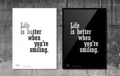 Life is better when you're smiling. #RabbitDESIGN #poster