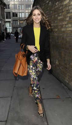 Olivia Palermo ....I love her layering...this looks like a Loft or Banana Republic look
