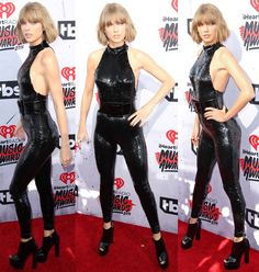 Taylor Swift walks the red carpet at the 2016 iHeartRadio Music Awards held at The Forum in Inglewood on April 3, 2016