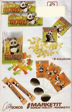Taotao❤️ pieni panda karhu on. Amy Tan, Retro Candy, Old Commercials, Good Old Times, Album Covers, Childhood Memories, Retro Vintage, Nostalgia, Tv