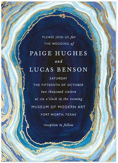geode wedding invite from @minted