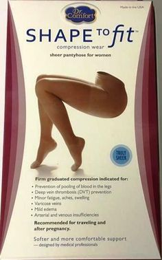 8795a167c58 This is for 1 Pair of Pantyhose Graduated Compression Closed Toe Shape to  Fit Theralite.