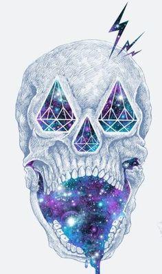 Cosmic diamond skull