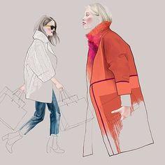 Agata Wierzbicka - street style illustration for Arenas de Barcelona