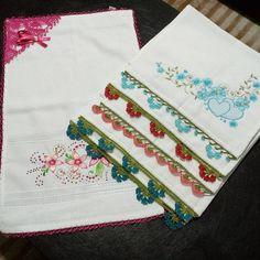 Tığ işi mutfak havlu kenarları #crochet #örgü #needle #iğneoyası #iğneoyaları #yazma #elisi Elsa, Napkins, Hand Stitching, Crocheted Afghans, Bathrooms, Needlepoint, Towels, Dinner Napkins
