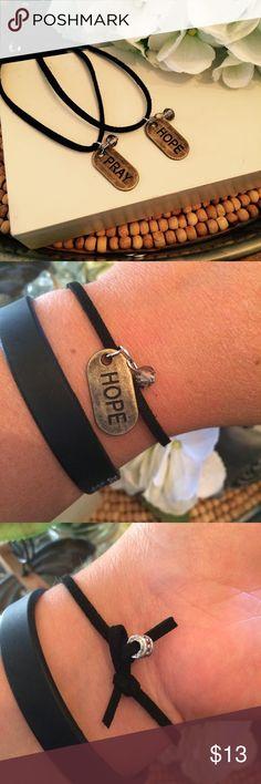 PRAY, HOPE Single cord bracelet Handcrafted Single cord bracelet. Choose: HOPE or PRAY A.K.Lily Jewelry Bracelets