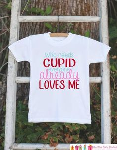 Girls Valentines Day Outfit - Who Needs Cupid Valentines Onepiece - Novelty Valentine Shirt for Baby Girl - Kids Valentines Day Outfit - 7 ate 9 Apparel
