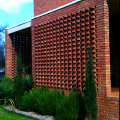 Brickwork Facade - 'jali' work