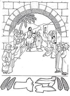 Jesus Enters Jerusalem In This Palm Sunday Coloring Page For sunday activities Sunday School Activities, Sunday School Lessons, Sunday School Crafts, Palm Sunday Craft, Book Activities, Toy Story Coloring Pages, Jesus Coloring Pages, Coloring Books, Bible Story Crafts