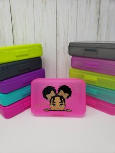 Excited to share the latest addition to my shop: Personalized Pencil Box. Available now in our shop! Personalized Pencil Boxes, Personalized School Supplies, Personalised Santa Sacks, Personalized Gift Bags, Crayon Organization, Peek A Boo, Crayon Box, Teacher Supplies, Pencil Pouch
