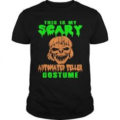 This Is My Scary Automated Teller Costume T-Shirt LIMITED TIME ONLY. ORDER NOW if you like, Item Not Sold Anywhere Else. Amazing for you or gift for your family members and your friends. Thank you! #automated #shirts