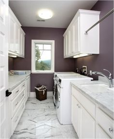 Plum paint in the master bedroom closet?  Seems to have a hint of grey in it.